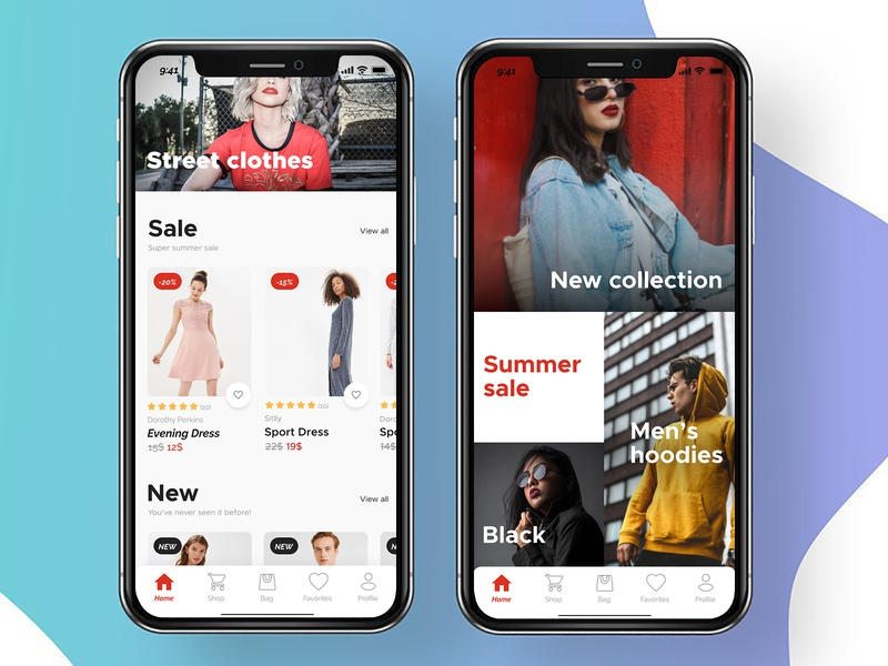Street Style Collection graphic psd uiux apparel designs iphone app ecommerce app clothes ios app design