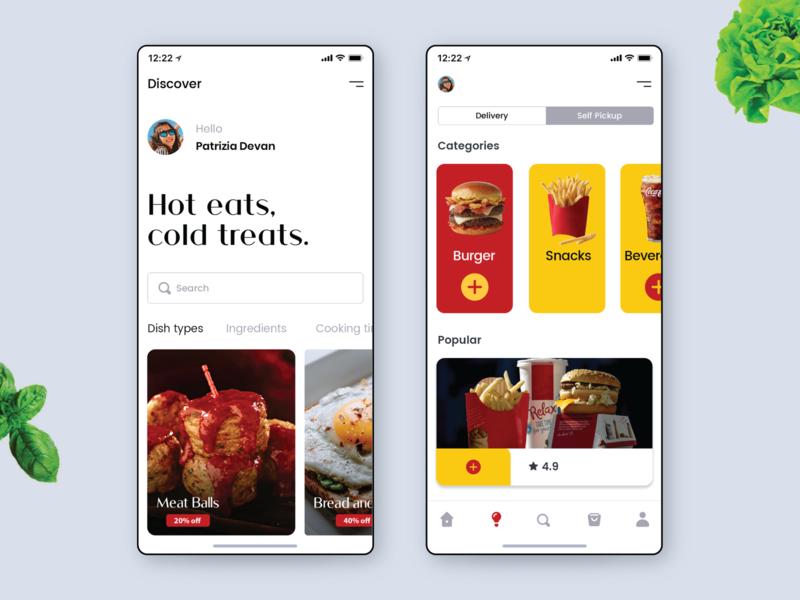 Food Delivery App Design free psd mobile design online store order management ecommerce app ui design ios app food app delivery