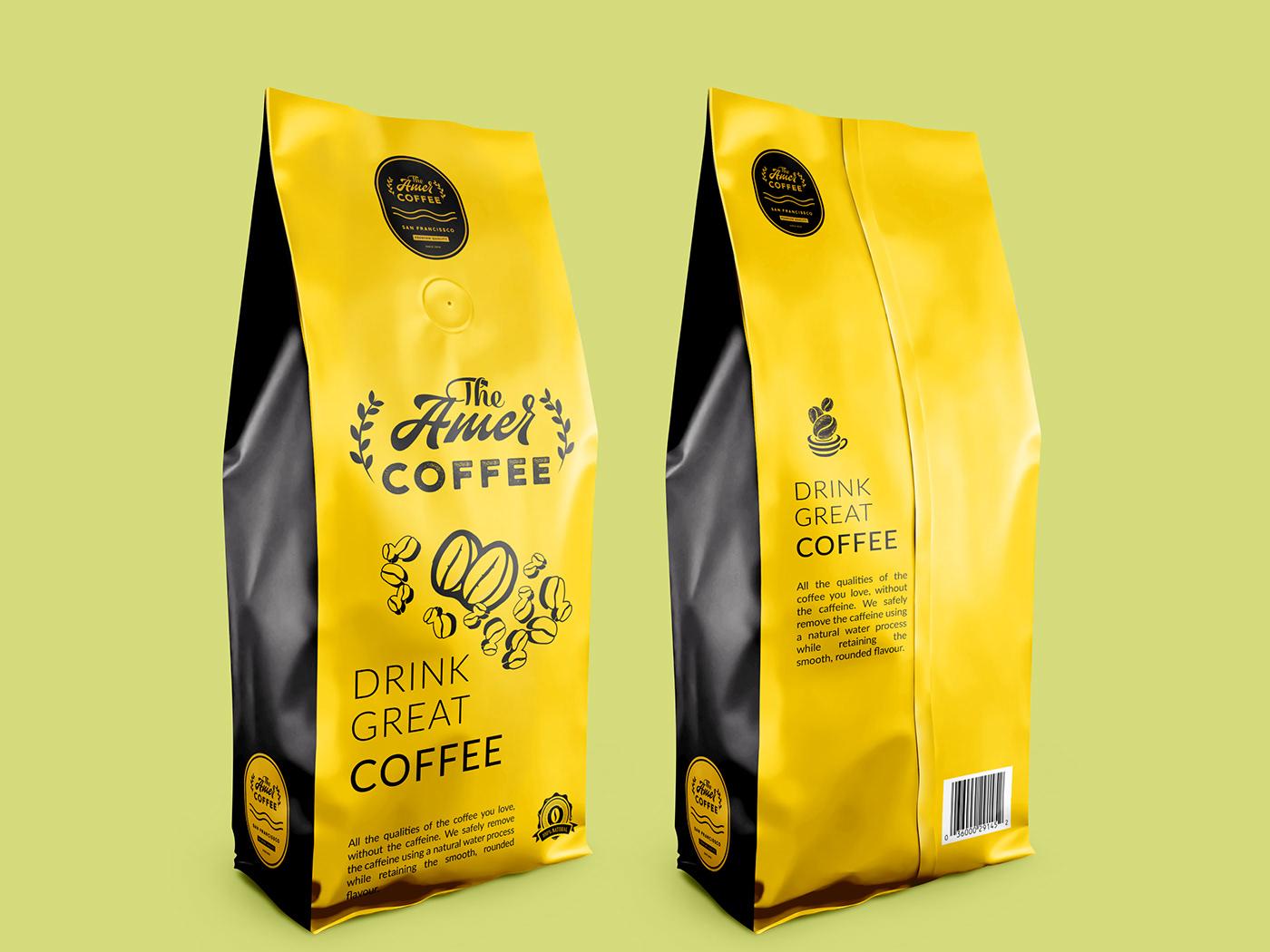 The Amer Coffee Packaging Design By Inderjit Singh On Dribbble