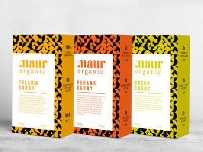 Maur Organic Curry 4 Flavour Packaging Design