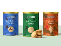 Maur Cookies Tin Label Design