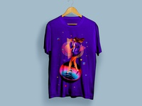 Walk in Space T-Shirt Design