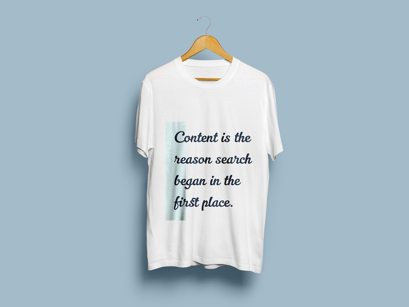 Content is the reason search... t-shirt design clean graphic content design mockup t-shirt design illustration typography vector art direction