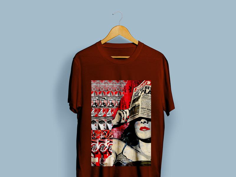 Newspaper Reading T-Shirt Design graffiti emotion artwork mockup t-shirt design vector illustration clean graphic direction