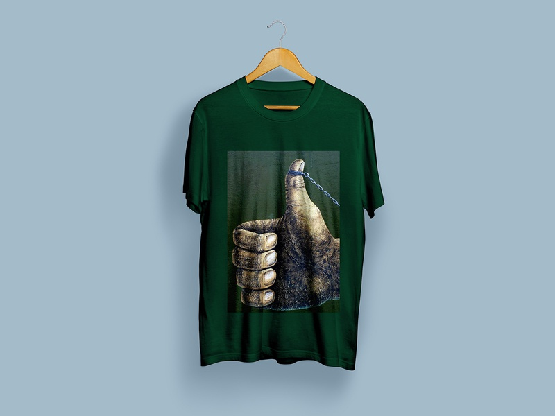 Fix Thumbsup with chain T-shirt Design graffiti art vector direction creative t-shirts illustration clean art graphic design