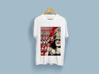 Newspaper Reading T-Shirt Design