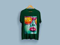 Colorful Graffiti girl Atwork T-Shirt Design