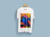 Colorful line Art T-Shirt Design
