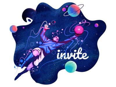 Dribbble 1 Invitation