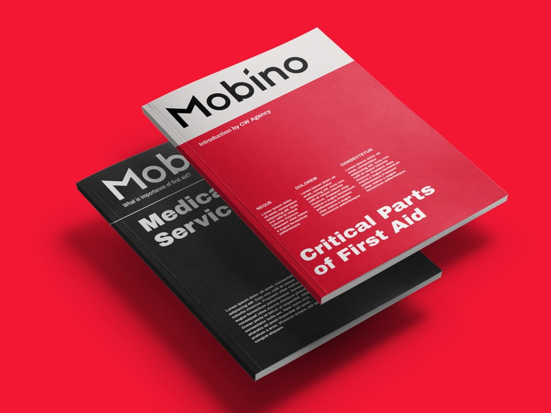 Mobino Medical Services Magazine Design clean design typography mockup design book cover catalog design cover design first aid design medical magazine