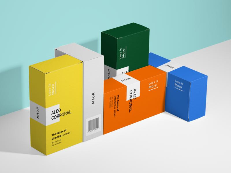 Maur Aleo Corporal Packaging Design product design clean print design label design photoshop typogaphy packaging design graphic design