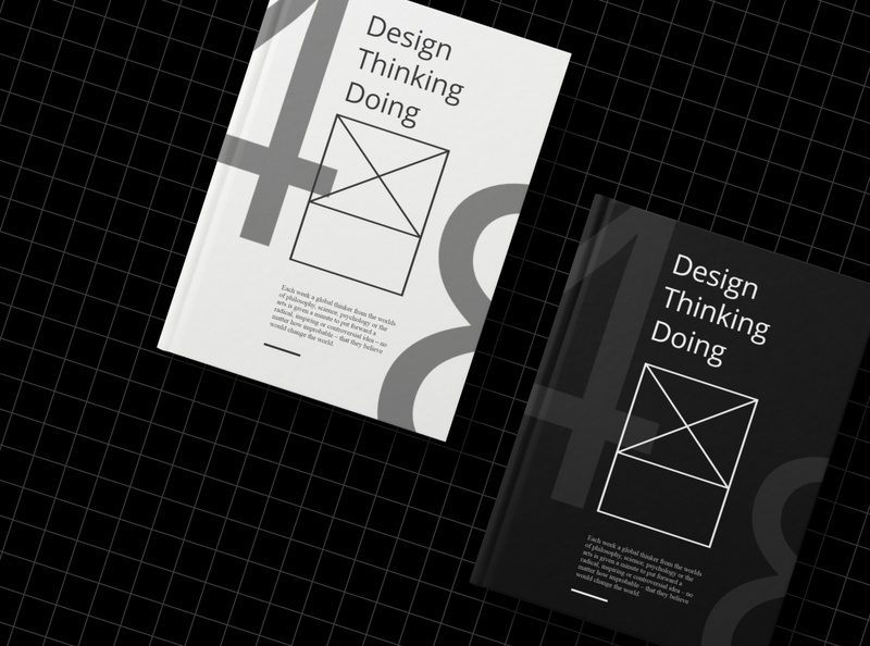 Design Thinking Doing Book Cover Design art clean direction paper art stationery photoshop sardar inderjit vector business typography graphic design book print design