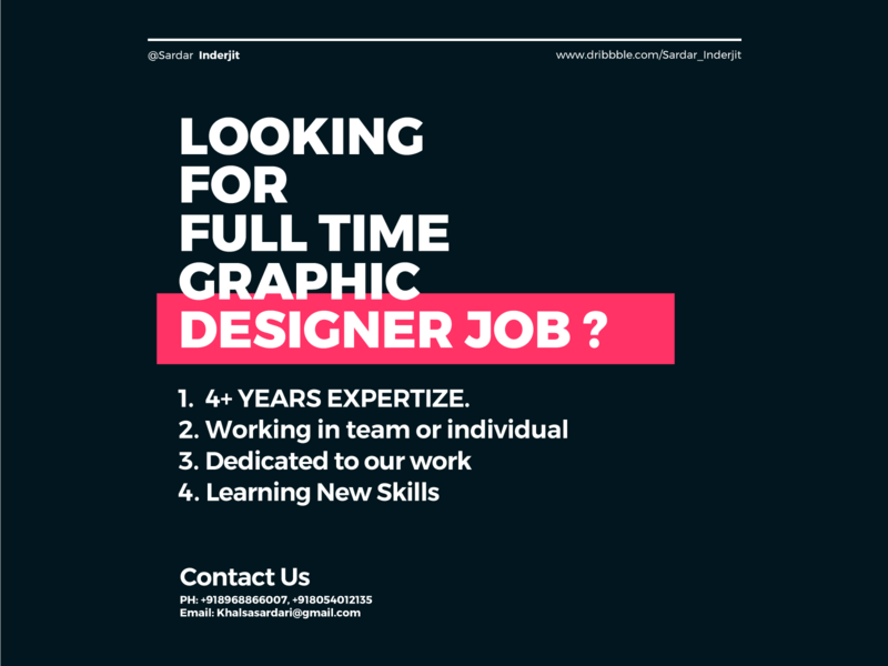 Looking For Full Time Graphic Designer Job Design graphic designer interview printdesign hireme officeculture fulltime agency hiring hire design