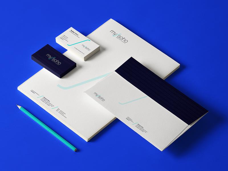 Mysoho Branding Design logo typography corporate branding corporate identity print design branding business graphic design