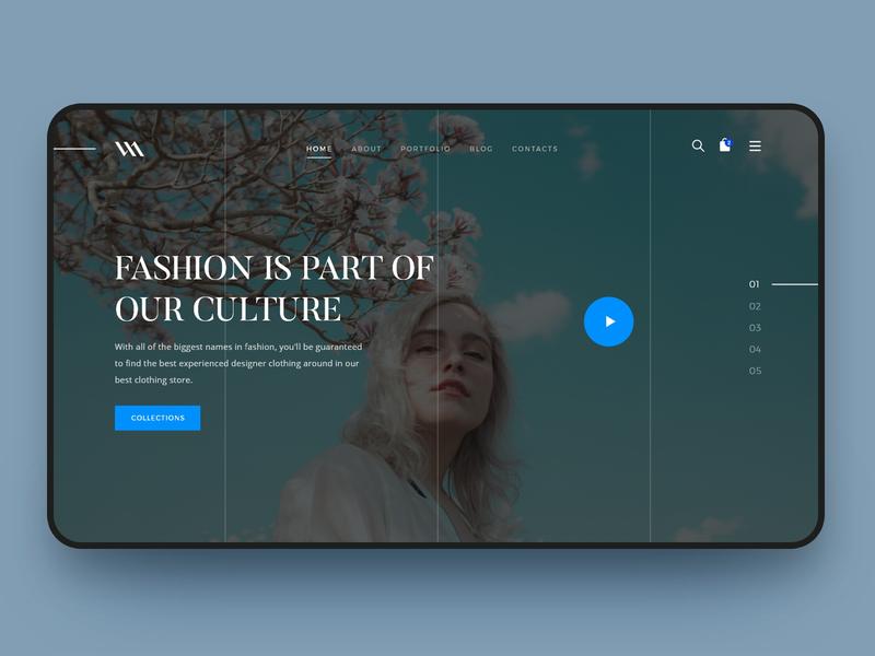 WANFashion Redesign Website parallax graphic landing page design agency creative website ui  ux web design wan