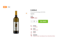Dispensas wine product page white clean boutique dispensas vino vini wine bottle add to cart bottle product page product wine