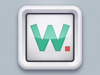 Watchup App icon 1st proposal  app icon iphone icon icons ios watchup tv television green red ios icon appstore application white ipad icon ipad details