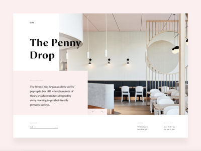 The Penny Drop Cafe - Landing Page