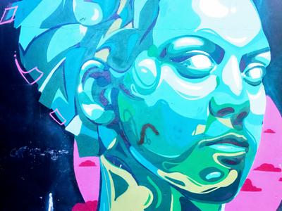 Η γυναίκα - The woman αθήνα φωτογραφία τοιχογραφία τέχνη δρόμου σκίτσο σχέδιο athens photography photo retouching urban art street art graffiti wall design graphic design illustration storytelling