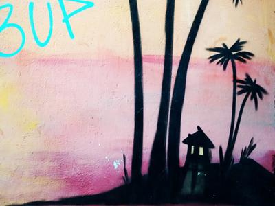 Στην παραλία - In the beach αθήνα φωτογραφία τοιχογραφία τέχνη δρόμου σχέδιο athens photography photo retouching urban art street art graffiti wall design graphic design illustration storytelling