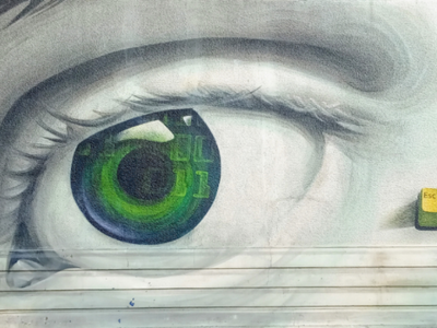 Σέ βλέπω - I can see you αθήνα φωτογραφία τοιχογραφία τέχνη δρόμου σχέδιο athens photography photo retouching creative design urban art street art graffiti wall design graphic design illustration storytelling