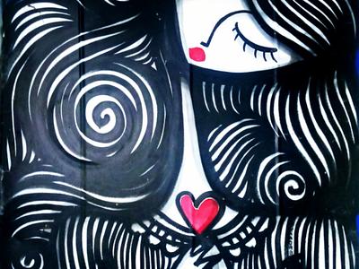 Η γυναίκα - The woman αθήνα φωτογραφία τέχνη δρόμου τοιχογραφία σχέδιο athens photography photo retouching urban art street art graffiti wall design graphic design illustration storytelling