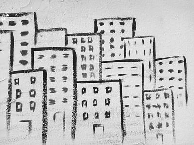 Η μεγάλη πόλη - The big city αθήνα φωτογραφία τέχνη δρόμου τοιχογραφία σχέδιο athens photography photo retouching urban art street art graffiti wall design graphic design illustration storytelling