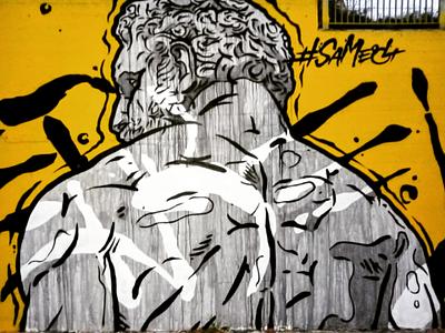 Ηρακλής - Hercules αθήνα τέχνη δρόμου τοιχογραφία σχέδιο athens photography illustration photo retouching cms ux web design storytelling