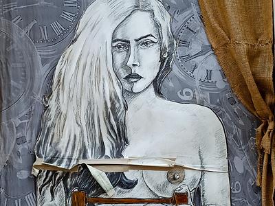 Πορτραίτο στον τοίχο - Portrait in the wall graffiti urban art street art creative design τέχνη δρόμου athens photography illustration wall design αθήνα storytelling φωτογραφία τοιχογραφία σχέδιο photo retouching