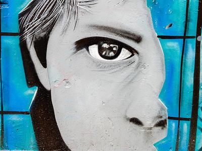Σέ βλέπω - I can see you urban art street art photo retouching αθήνα wall design illustration φωτογραφία τέχνη δρόμου τοιχογραφία σχέδιο