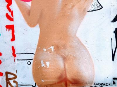 Τοιχογραφία στου Ψυρρή - Wall Design in Athens