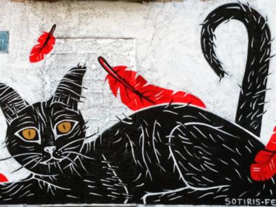 Τοιχογραφία στο Μεταξουργείο - Athens Wall Design