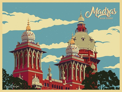 Madras High Court Illustration chandru chandranravanan illustration chennai high court madras