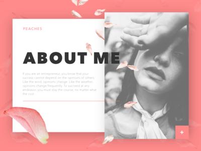 About Me Page simple creative concept web design website about me