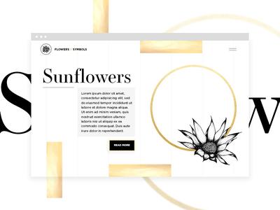 Flowers X Symbols Web Design website layout web design elegant fashion animation website