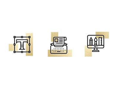 Icon Design icon artwork illustrations minimal elegant gold website icon illustration