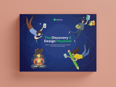 The Discovery and Design Playbook by The Leapfrog Design Team design sprints development app agile nepal drawing uiux process design thinking editorial sketch illustration design and discovery designbook uxprocess uxbook playbook