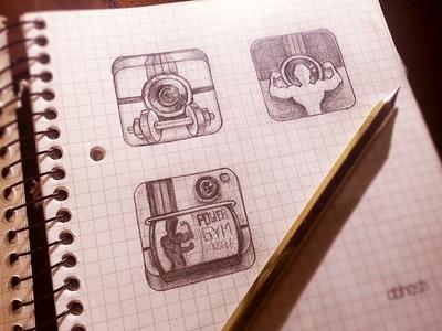 InstaGym iOs Icon - Sketch mockups