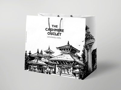Roughly Sketched Bag - Nepal Heritages