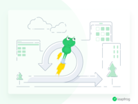 Agility - Leapfrog Website Illustration