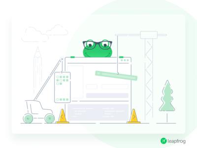 We Deliver - Leapfrog Website Illustration