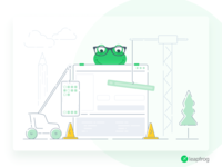 We Deliver - Leapfrog Website Illustration