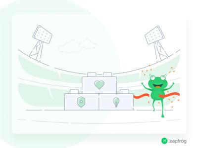Bring You Success - Leapfrog Website Illustration
