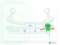 Bring You Success - Leapfrog Website Illustration