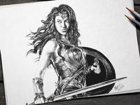Wonder Woman - Pencil Sketch
