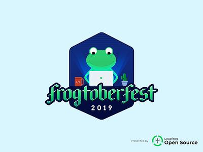 Frogtoberfest at Leapfrog hackathon hacktoberfest design logo illustration