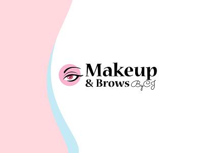 Makeup & Brows By CJ brow logo eyebrow logo makeup logo makeup branding design brand design creative logo branding logo logo design
