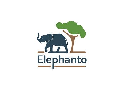 Elephanto - Concept Logo ui branding creative logo animal illustrations graphic designer logo designer logo concepts logo design animal logo mascot logo illustrative logo elephant illustration elephant logo elephant logo concept