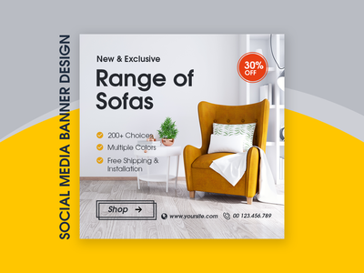 Graphic Featuring an Interior Design instagram banner instagram post instagram sofa interior design graphic design banner design banner