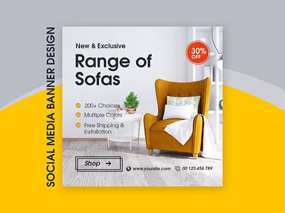 Graphic Featuring an Interior Design instagram banner instagram post instagram sofa interior design graphic design banner design banner